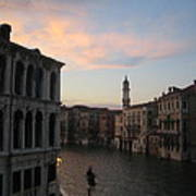Grand Canal At Dusk Poster