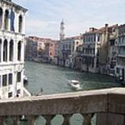 Grand Canal From A Bridge Poster