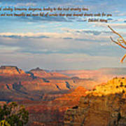 Grand Canyon Splendor - With Quote Poster