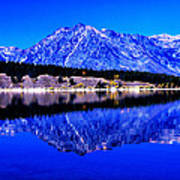 Grand Tetons In Blue Poster