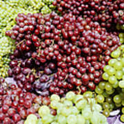 Grapes At A Market Stall Poster