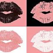 Graphic Lipstick Kisses Poster by Blink Images