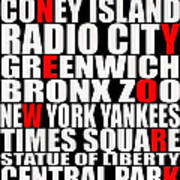 Graphic New York 3 Poster