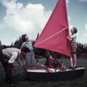 Grass Boat Poster