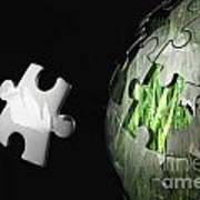 Grass Jigsaw Globe Poster