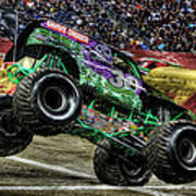 Grave Digger At Ford Field Detroit Mi Poster