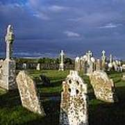 Graveyard, Clonmacnoise, County Offaly Poster