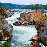 Great Falls On The Potomac River In Virginia Poster