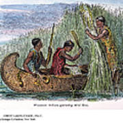 Great Lakes: Canoe, 19th C Poster