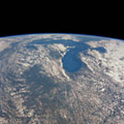 Great Lakes From Space Poster