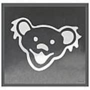Greatful Dead Dancing Bear In Negative Poster
