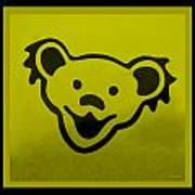 Greatful Dead Dancing Bear In Yellow Poster