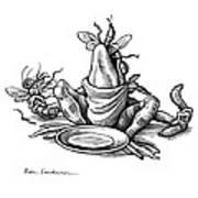 Greedy Frog, Conceptual Artwork Poster by Bill Sanderson