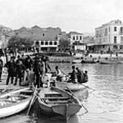 Greek Immigrants Fleeing Patras Greece - America Bound - C 1910 Poster