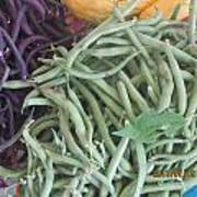 Green And Purple Beans Poster
