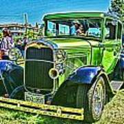 Green Ford Street Rod Hdr Poster