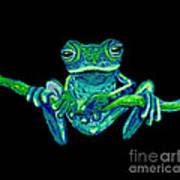 Green Ghost Frog Poster