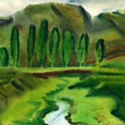Green Landscape Poster