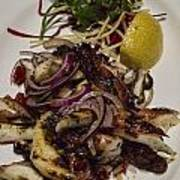 Griiled Fresh Greek Octopus Poster