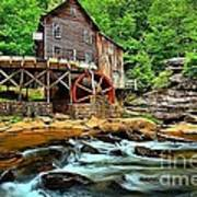 Grist Mill At Babcock Poster