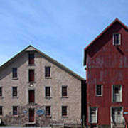 Gristmill At Prallsville Mills Poster