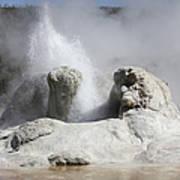Grotto Geyser Eruption, Upper Geyser Poster