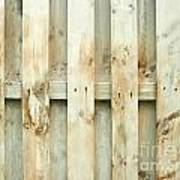 Grungy Old Fence Background Poster