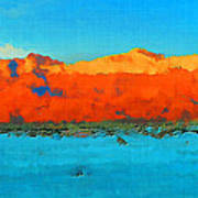 Guadalupe Mountains Sunset Poster