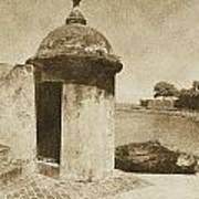 Guard Post Castillo San Felipe Del Morro San Juan Puerto Rico Vintage Poster by Shawn O'Brien