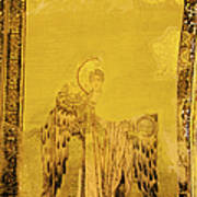 Guardian Angel Byzantine Art Poster