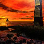 Guiding Light - Lighthouse Art Poster