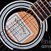 Guitar Abstract 1 Poster