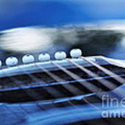 Guitar Abstract 4 Poster
