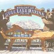 Gull Lake Marina Poster