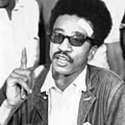 H. Rap Brown, Chairman Of The Student Poster by Everett