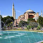 Hagia Sofia In Istanbul Poster by Artur Bogacki