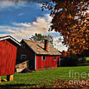 Hale Farm In Autumn Poster