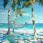 Hammock And Palms Poster