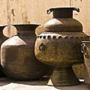 Hand Crafted Jugs, Jaipur, India Poster