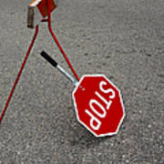 Handheld Stop Sign Poster by Marlene Ford