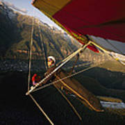 Hang Glider Over Telluride, Colorado Poster