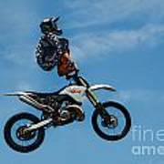 Hanging On Motorcycle Tricks  Poster
