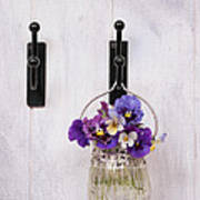 Hanging Pansies Poster