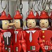 Hanging Pinocchios Puppets Poster