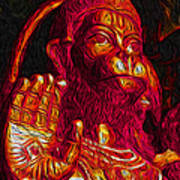 Hanuman The Monkey King Poster by Naresh Ladhu