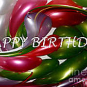 Happy Birthday - Balloons Poster by Kaye Menner