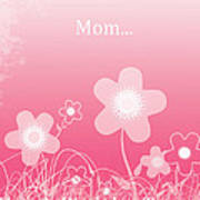 Happy Birthday To You Mom Poster