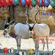 Happy Gnu Year Poster