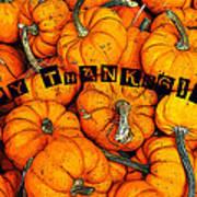 Happy Thanksgiving Art Poster