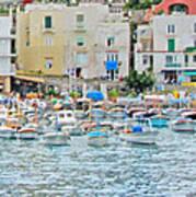 Harbor At Isle Of Capri Poster